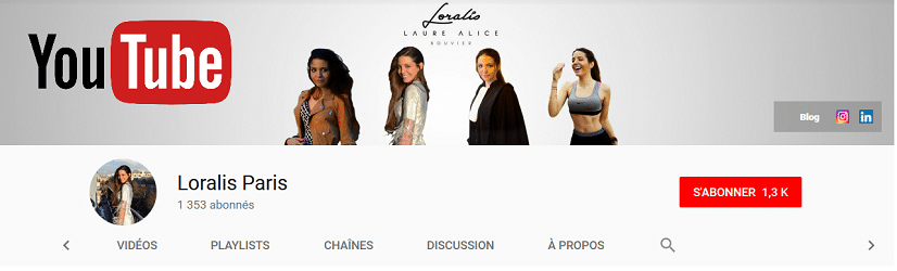 Loralis Paris sur YouTube